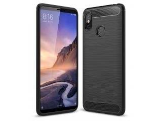 Xiaomi Mi Max 3 Carbon Gummi Hülle TPU Case Cover flexibel schwarz