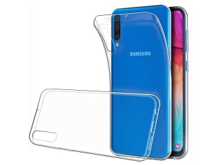 Samsung Galaxy A50 Gummi Hülle flexibel dünn transparent thin clear