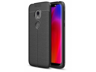 Moto G7 Play Leder Design Gummi Hülle TPU Case Cover flexibel