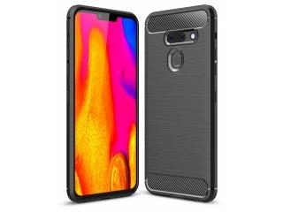 LG G8 ThinQ Carbon Gummi Hülle TPU Case Cover flexibel schwarz