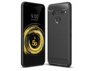 LG V50 ThinQ Carbon Gummi Hülle TPU Case Cover flexibel schwarz