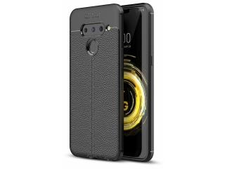 LG V50 ThinQ Leder Design Gummi Hülle TPU Case Cover flexibel