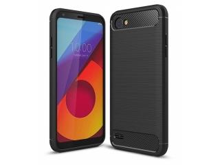 LG Q6 Carbon Gummi Hülle TPU Case Cover flexibel Schutzhülle schwarz