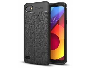 LG Q6 Leder Design Gummi Hülle TPU Case Cover flexibel Schutzhülle