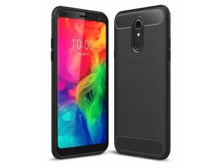 LG Q7 / Q7+ Carbon Gummi Hülle TPU Case Cover flexibel schwarz