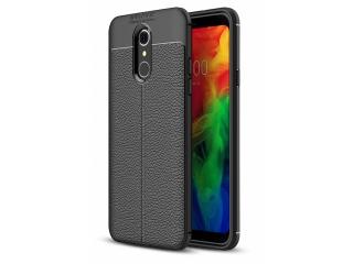 LG Q7 / Q7+ Leder Design Gummi Hülle TPU Case Cover flexibel