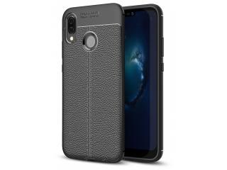 Huawei P20 Lite Leder Design Gummi Hülle TPU Case Cover flexibel