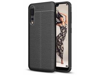 Huawei P20 Pro Leder Design Gummi Hülle TPU Case Cover flexibel