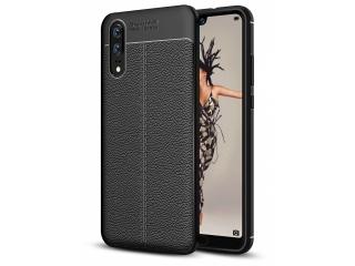 Huawei P20 Leder Design Gummi Hülle TPU Case Cover flexibel