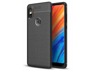 Xiaomi Mi Mix 2S Leder Design Gummi Hülle TPU Case Cover flexibel