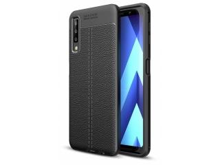 Samsung Galaxy A7 (2018) Leder Design Gummi Hülle TPU Case flexibel