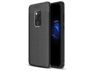 Huawei Mate 20 Leder Design Gummi Hülle TPU Case Cover flexibel