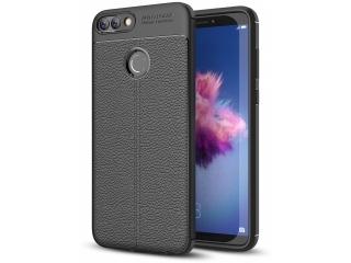 Huawei P Smart Leder Design Gummi Hülle TPU Case Cover flexibel