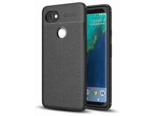 Google Pixel 2 XL Leder Design Gummi Hülle TPU Case Cover flexibel
