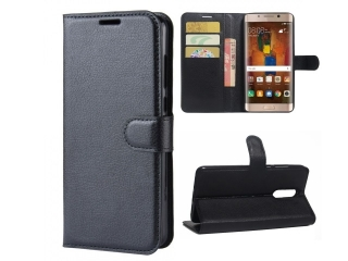Huawei Mate 9 Pro Ledertasche Portemonnaie Karten Etui Hülle schwarz