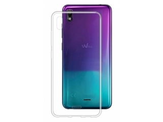 Wiko View 2 Go Gummi TPU Hülle flexibel dünn transparent thin clear