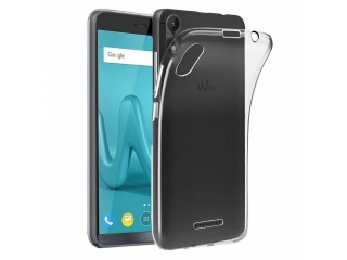 Wiko Lenny 4 Gummi TPU Hülle flexibel dünn transparent thin clear case