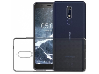 Nokia 5.1 Gummi TPU Hülle flexibel dünn transparent thin clear case