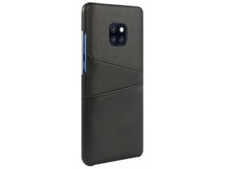Huawei Mate 20 Pro Leder Case Karten Etui Schutzhülle - schwarz