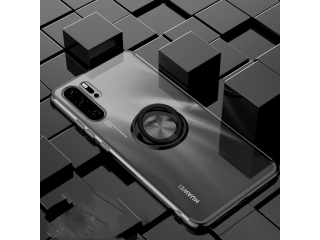 Huawei P30 Pro Hülle mit Ring Finger Case Cover transparent schwarz