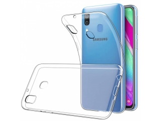 Samsung Galaxy A40 Gummi Hülle flexibel dünn transparent thin clear