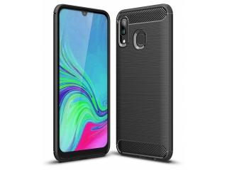 Samsung Galaxy A40 Carbon TPU Flex Gummi Hülle Thin Softcase - schwarz