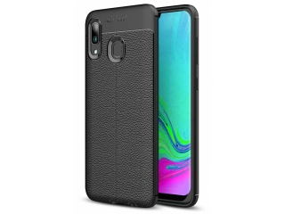 Samsung Galaxy A40 Leder Design Gummi Hülle TPU Case Cover flexibel