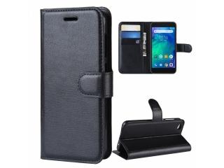 Xiaomi Redmi Go Ledertasche Portemonnaie Karten Etui Hülle schwarz