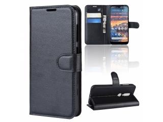 Nokia 4.2 Ledertasche Portemonnaie Karten Etui Schutzhülle schwarz