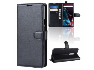 OnePlus 7 Pro Ledertasche Portemonnaie Karten Etui Schutzhülle schwarz