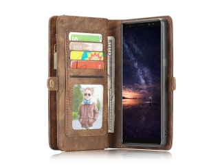 CaseMe Samsung Galaxy Note 9 Echtleder Portemonnaie Karten Case braun