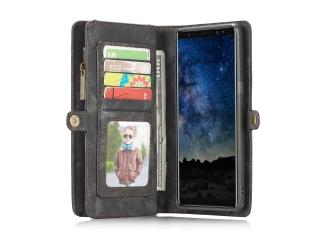 CaseMe Samsung Galaxy Note 9 Echtleder Hülle Karten Etui Case schwarz