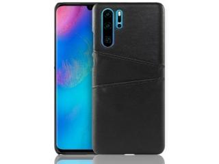 Huawei P30 Pro Leder Case Hülle für Bank & Kreditkarten schwarz