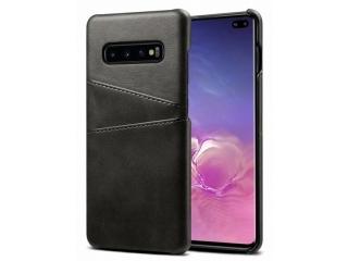 Samsung Galaxy S10+ Leder Case Hülle für Bank Kreditkarten schwarz