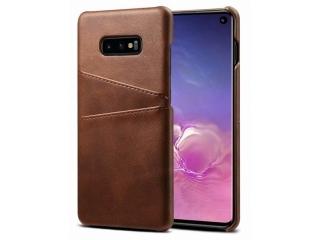 Samsung Galaxy S10e Leder Case Hülle für Bank Kreditkarten braun