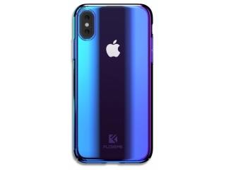Floveme iPhone X Xs Hard Case Hülle Farbverlauf transparent clear blau