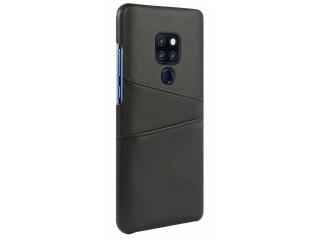 Huawei Mate 20 Leder Case Hülle für Bank und Kreditkarten Etui schwarz