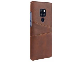 Huawei Mate 20 Leder Case Hülle für Bank und Kreditkarten Etui braun