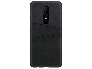 OnePlus 7 Pro Leder Case Hülle für Bank und Kreditkarten Etui schwarz