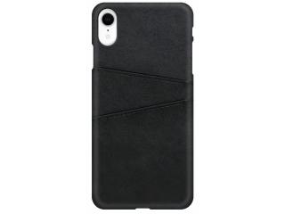 iPhone Xr Leder Case Hülle für Bank und Kreditkarten Etui schwarz
