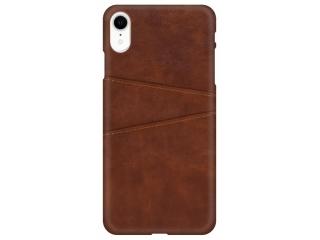 iPhone Xr Leder Case Hülle für Bank und Kreditkarten Etui braun