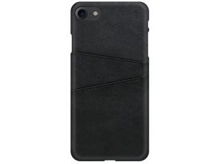 iPhone SE 2020 Leder Case Hülle für Bank und Kreditkarten Etui schwarz