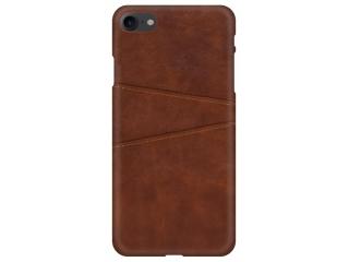 iPhone SE 2020 Leder Case Hülle für Bank und Kreditkarten Etui braun