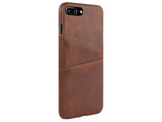 iPhone 7 / 8 Plus Leder Case Hülle für Bank Kreditkarten Etui braun