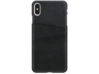 iPhone Xs Max Leder Case Hülle für Bank und Kreditkarten Etui schwarz