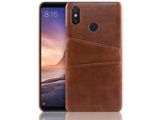 Xiaomi Redmi Note 7 Leder Case Hülle für Bank Kreditkarten Etui braun