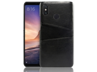 Xiaomi Redmi Note 6 Pro Leder Case Hülle für Bank Kreditkarten schwarz