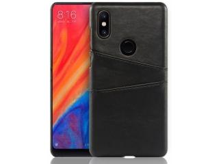 Xiaomi Mi Mix 2S Leder Case Hülle für Bank Kreditkarten Etui schwarz