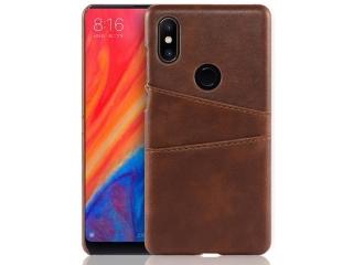 Xiaomi Mi Mix 2S Leder Case Hülle für Bank Kreditkarten Etui braun