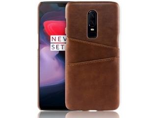 OnePlus 6T Leder Case Hülle für Bank und Kreditkarten Etui braun